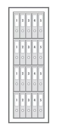 Wertheim  VB 40 duplafalú irodai trezor